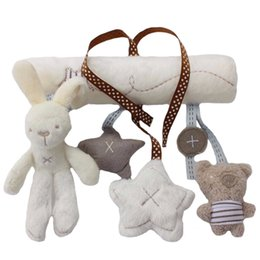 Wholesale rabbit bedding - Pendant for baby car rabbit plush toys safe bed toys of rabbit plush pendant 5 colors to choose by yourself