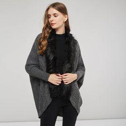 Cardigan trenzado grueso online-venta al por mayor de espesor cálido suéter cardigan manga batwing lana suéter torcido sólido vendaje de punto suéter flojo ocasional de Halloween