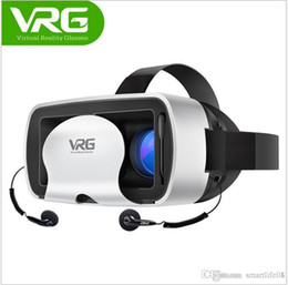 Wholesale Oculos Virtual - VRG VR Box Gaming 3D Glasses with Earphone Movie Oculos Realidade Virtual VR headset Anti Blue-ray for iPhone 6 7 Virtual Reality