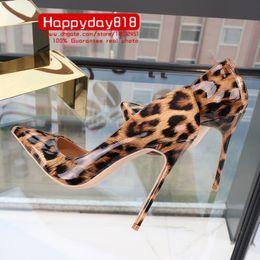 Leopard-hochzeits-fersen online-Freie Verschiffenart und weisefrauen pumpt Dameleopard-Lackleder spitze Zehe-Absatzschuhe Partei-Schuhe 12cm 10cm 8cm Braut-Hochzeitsschuhe