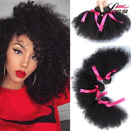 Wholesale Kinky Curly Bundles - 8A Mink Peruvian Afro Kinky Curly Hair Wave 3 Bundles Peruvian virgin Afro Kinky Curly Human Hair Extensions peruvian Afro Kinky Virgin Hair