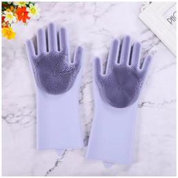 Argentina 2018 Nuevos guantes de lavado con aislamiento térmico de silicona baño cocina guantes de limpieza casa personalizada guantes mágicos de silicona Suministro