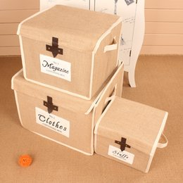 Wholesale clothing article - the utility vehicle can fold jute clothes and household articles receiving box wholesale