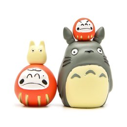 Wholesale Japanese Child Dolls - Mini My Neighbor Totoro Blessing 4cm Japanese Cartoon Cute Dolls PVC Action Figure Micro Garden Decoration Children Gift