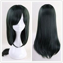 Wholesale dragon wig - Miss Kobayashi's Dragon Maid Fafnir Cosplay Wig 65cm Long Straight Deep Green
