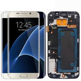 5,1 '' SUPER AMOLED дисплей для SAMSUNG Galaxy S6 edge LCD + рамка G925 G925I G925F сенсорный экран планшета от Поставщики s4 мини-синий