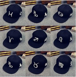 Wholesale Mystery Black - 2018 New The Zodiac Mystery snapbacks 12 constellations new Adjustable Caps Sport warriors Hats Free Drop Shipping Mix Order
