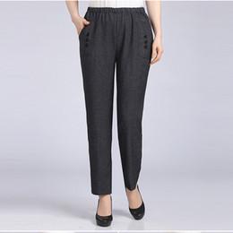 Wholesale Elegant High Waist Trousers - New Arrivals Spring Summer Plus Size Casual Pants Women Slim Capris Mother Leggings Elegant Simplicity Trousers Women H182