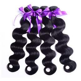 wet wavy hair 22 inches Coupons - Raw Indian Hair Body Wave Bundles 3 Pieces Lot Wet And Wavy Human Hair Bundles Best Quality Malaysian Virgin Brazilian Body Wave Hair