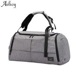 2019 grande borsa da viaggio in pelle di tote Aelicy Canvas Leather Uomo Borse  da viaggio 48c9202e3c3
