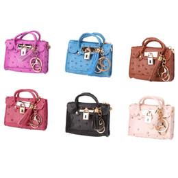 Wholesale Mini Lock Key Wholesale - THINKTHENDO Women's Tassel Mini Handbag Lock Decor Coin Purse Change Wallet Key Ring Holder