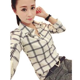 2019 blusas de senhora Camisa das senhoras do escritório da carreira das mulheres Blusas ocasionais Blusas longas da luva cabidas Partes superiores desconto blusas de senhora