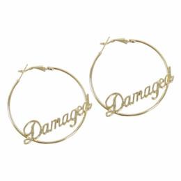 letzte fantasieschuhe Rabatt Selbstmord Squad Harley Quinn Cosplay beschädigt Runde Mode großen Ohrring dangler Mode Frauen Ohrring
