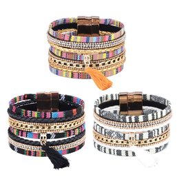 Красиво 3 Цвет кисточки Шарм Кристалл браслет магнитные Оснастки многослойные браслет Браслет манжеты цепи мода ювелирные изделия для женщин подарок от Поставщики оптовый браслет супергероя