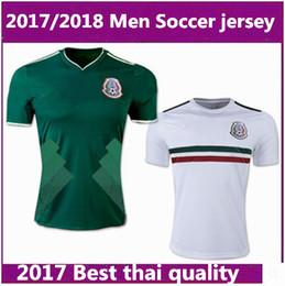 Wholesale Thailand Jersey Wholesalers - Thailand MEXICO SOCCER JERSEYS 2018 world cup CHICHARITO LOZANO DOS SANTOS HERRERA LAYUN Mexico green football kit shirt camisetas de futbol