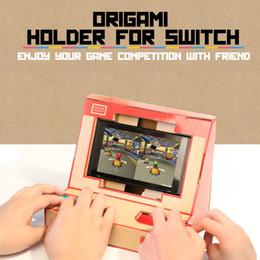 2019 spielkartenadapter Faltbare stehen Origami Labo DIY Karton Kreationen Spiel Halter Kit Spielzeug für NS Schalter Papier Arcade Halterung
