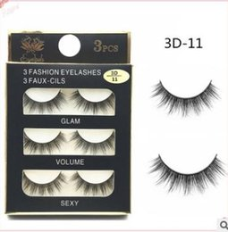 Wholesale New Curly Hair - Can Mix Stye 3Pairs New 3D Natural Cross thick Curly Messy False Eyelashes long makeup 3D Lashes Fake Eye Lashes Extension Make Up Beauty
