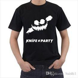 Нож партия танцевальная музыка дуэт мужская футболка Футболка футболка SML XL 2XL 3XL повседневная с коротким рукавом футболки тройник от Поставщики ножевой танец