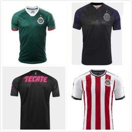 Wholesale Thailand Jersey Wholesalers - Thailand Quality 2017 2018 Mexico Club Chivas de Guadalajara Soccer Jersey Home away 17 18 Reyna O.BRAVO NIGRIS A.PULIDO Football shirts