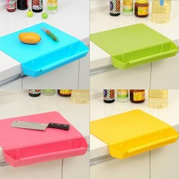 Wholesale V Groove - Plastic Chopping Block Pinkycolor Kitchen Practical Two In One Storage With Groove Board Thickening Cut Fruit Hot Sale 18hj V