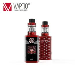 cigarette électronique remplie Promotion Vaptio vape kit Cigarette électronique CAPTAIN Kit 220w box mod Ajusté Réservoir 2.0ml / 4.0ml Haut remplissage Métal / Verre