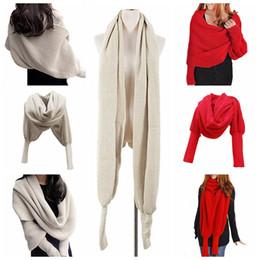 Wholesale Oversize Knit Cardigan - Womens Lady Knit Cardigan Loose Sweater Long Sleeve Knitted Wrap Shawl Scarf Oversize Coat Outwear 12pcs YYA1283