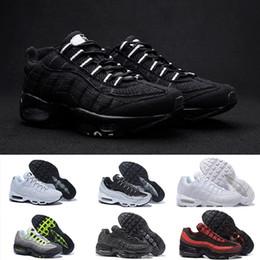Nike Air Max 95 Running shoes Envío de la gota Venta al por mayor Zapatillas Hombre Airs Cojín 95 OG Sneakers Auténtico 95s Nuevo Walking Descuento Zapatos deportivos Tamaño 36-46 desde fabricantes
