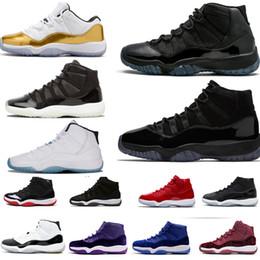 innovative design d5594 173d3 Kappe und Kleid 11 Prom Night 11s XI Gym Red Concord 45 PRM Erbin Herren  Damen Basketball Schuhe Cool Grey Sport Sneaker 36-47