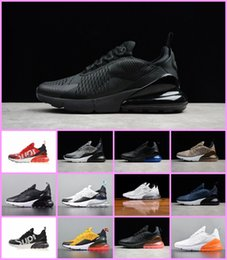 Wholesale hot cork - Hot SALES 2018 Vapormax TN Air Flair Triple Black 270 Trainer Sports Running Shoes Womens air sole 270 Sneakers 36-45