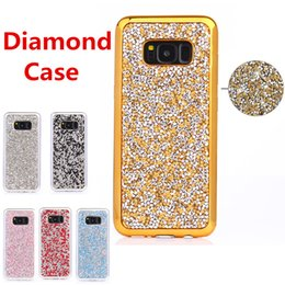 Wholesale Flash Crystal Case - For iPhone 8 Galaxy ON5 jewelry Case Diamond TPU Case For Iphone Cases Crystal Luxury Glitter Bling Flash Power Soft Case Opp Bag