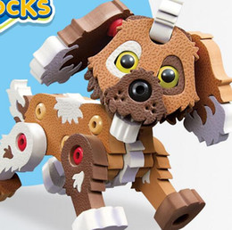 Wholesale age blocks - Cute Dog Blocks Set for Boys & Girls Toys ake Apart Toys Educational Construction Best Toy for Kids Ages 3yr - 12yr