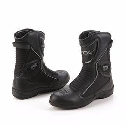 Botas de la motocicleta ARCX Botas de cuero genuino de la vaca que compiten con a prueba de agua L60568 desde fabricantes