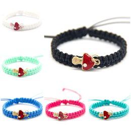 pilzcharme armband Rabatt Nette frohe Weihnachten Charm Armbänder für Frauen mit kleinen roten Pilz Seil Kette anpassen Größe Familienmitglieder Schmuck Geschenke