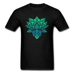 Argentina Tops Tees Camiseta de hombre Lotus Camiseta Flor Mandala Camiseta O Neck Thanksgiving Day Ropa de ocio 2018 Pure Cotton Suministro