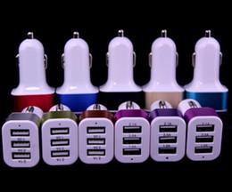 Argentina Adaptador universal de cargador de coche triple USB Conector USB 3 puertos Cargador de coche para iPhone Samsung Ipad DHL gratis cheap triple socket car charger Suministro