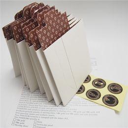 Образец мини Белый бумажная коробка пакет подарочная сумка для Pandora Шарм бисера ожерелье серьги кольцо кулон ювелирные изделия упаковка дисплей от