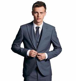 Trajes de boda de novios / padrinos de boda de alta calidad trajes elegantes para hombre de ocasión formal para caballero, trajes de boda (chaqueta + pantalón + chaleco) desde fabricantes