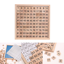 Wholesale Montessori Materials Wholesale - 1-100 Digital Wooden Board Montessori Math Toys Montessori Materials Children's Educational Toys Digital Board Figure Blocks Toy