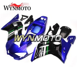 Wholesale Black 99 R6 Fairing Kit - Full Fairings For Yamaha YZF R6 1998-2002 98 99 00 01 02 Injection ABS Motorcycle Body Kits Motorbike Gloss Blue Black Customized Covers New