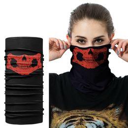 bufanda del airsoft Rebajas 3D inconsútil pasamontañas bufanda mágica cuello mascarilla fantasma cráneo esqueleto cabeza bandana escudo diadema Headwear mujeres hombres bicicleta