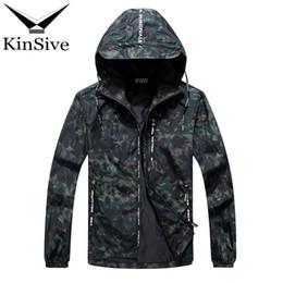 2018 Frühling Herbst Mens Casual Camouflage Kapuzenjacke Bomber Männer Wasserdichte Kleidung Herren Windbreaker Mantel Männlich Outwear 10XL von Fabrikanten