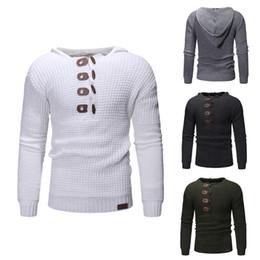 Sudadera abierta online-4 color suéter Hooide camisa abrigo hombres vestir chaqueta de manga larga traje sudadera Casual abierto Stich gris suéter de tela para hombre q408M005 M ~ XXXL