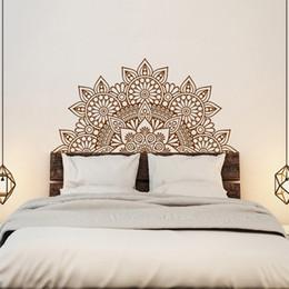 Nouvelle Arrivée Inde Bouddha Dieu OM Symnol Art Namaste Mandala Yoga Lotus Sticker Mural Méditation Vinyle Interio Lit Chambre Décor À La Maison ? partir de fabricateur