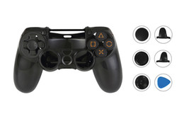 Wholesale cross play - PS4 Controller Skin, Play Station 4 Protective Cover Case + 1 Pair of L2 R2 Button Trigger Stops + 3 Pieces Cross Analog Joystick Grips Set