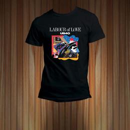 72e918f8f UB 40 Banda Labor Of Love Reggae Música camiseta de los hombres camiseta  Divertido envío gratis Unisex camiseta casual regalo