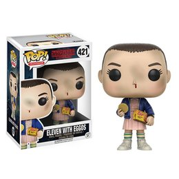Wholesale Packaging Pop - Stranger Things Funko POP Movie Anime Action Figure Demogorgon Eleven with Eggos Animation 10CM 4inch figure models original box packages