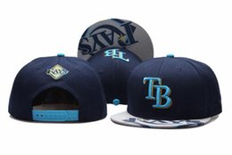 special hats Promo Codes - 2018 New Arrival Men's Sport Team Rays Baseball Hats TB Reflection Design Snapback Caps in Navey Blue Color with Special reflection Brim