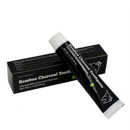 Dentifricio di bambù di carbone online-2018 105g igiene orale dentifricio sbiancante denti donne dente pasta nera di bambù carbone di legna dentifricio di alta qualità di trasporto libero