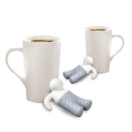 Wholesale Tea Infusers Strainers Wholesale - Funny Cute Mr. Tea Infuser Floating Filter Hole Loose Leaf Strainer Tea Bag Mug Filter Spice Relaxing Life