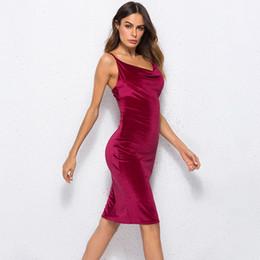 a8ed0d60a Vestidos de uma peça de veludo de veludo feminino on-line-Boa qualidade  Mulheres